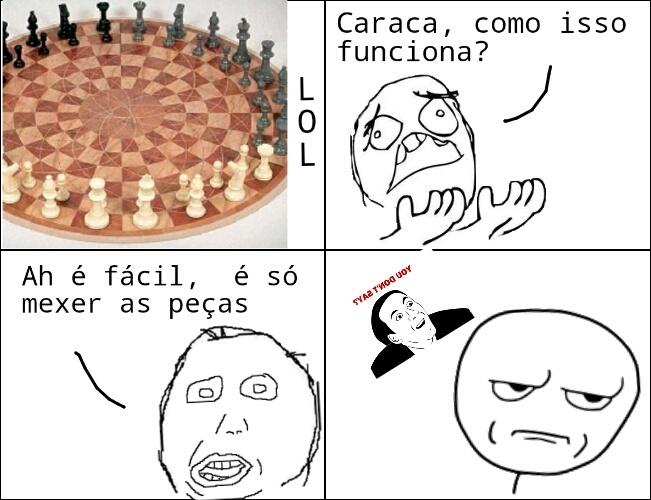 Xadrez com 3 pessoas! - meme