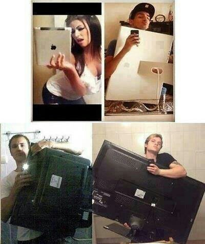 No pos claro , asi si me saco selfie - meme