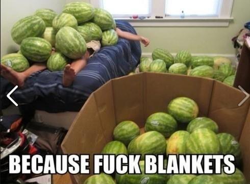Blankets fo tha weak - meme