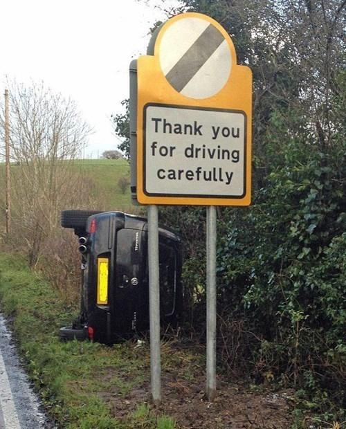 Merci de rouler prudemment :) - meme