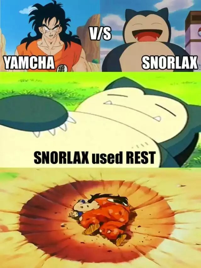 Yamcha y su capacidad de combate - meme