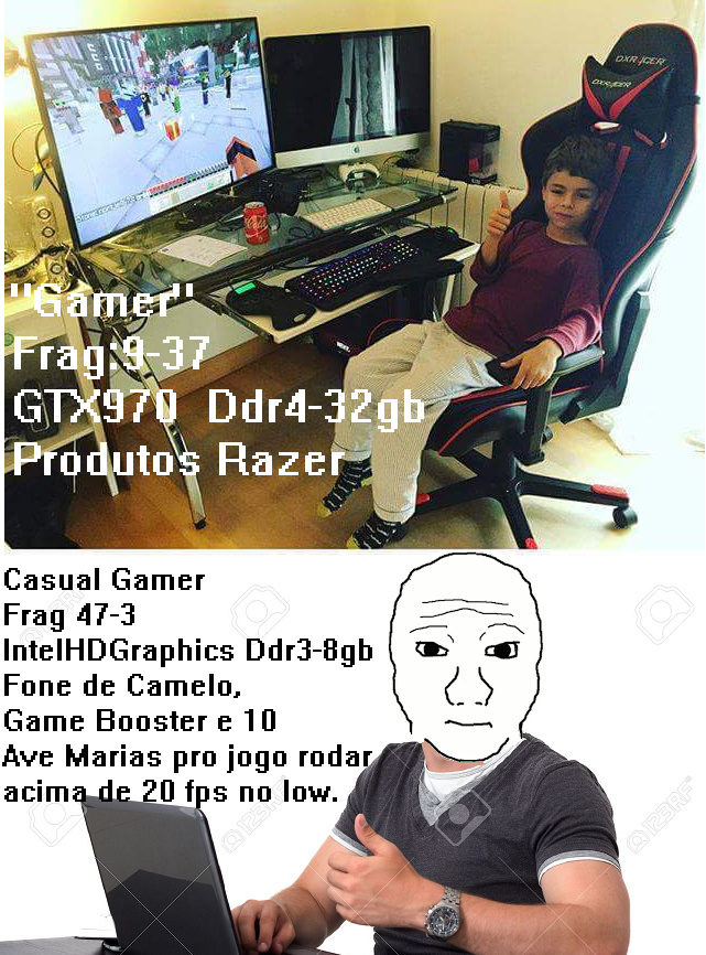 De boas com meu Intel hd graphics 3000 - meme