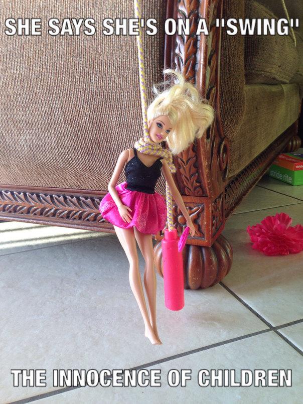 Hide yo Barbie dolls. - meme