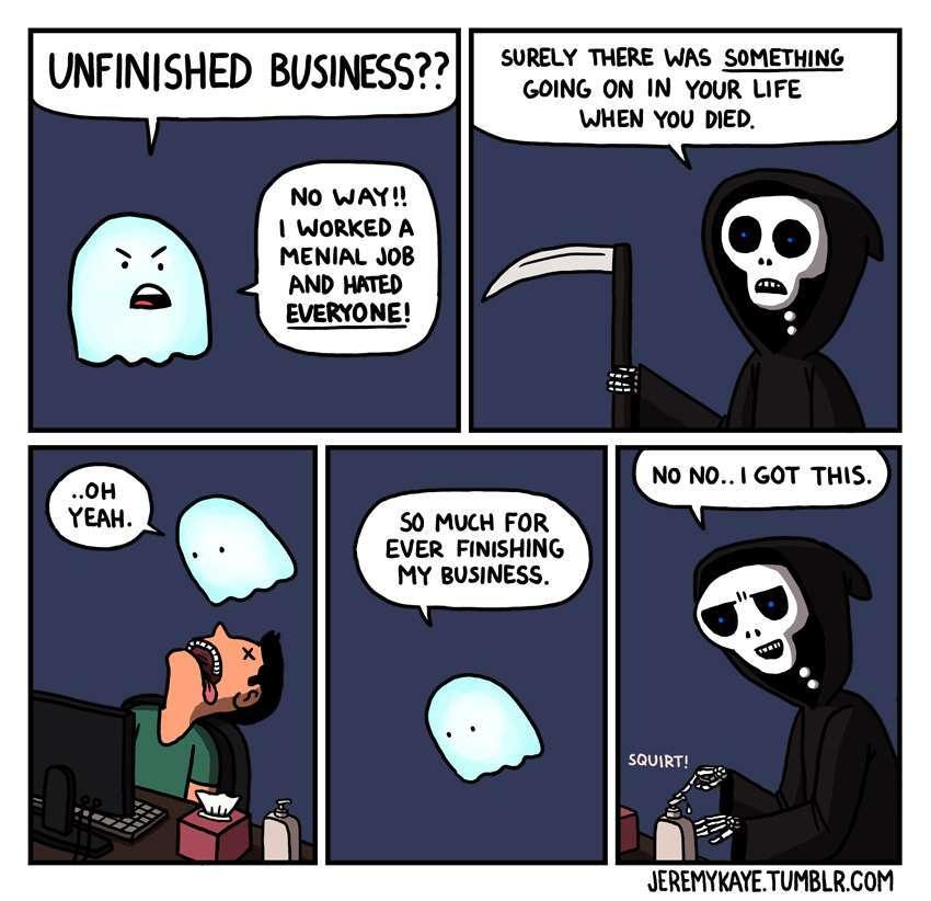 unfinished business - meme