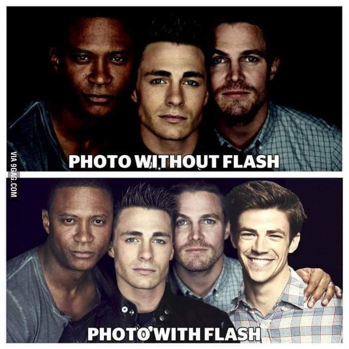 Avec flash / sans flash. Je sors. - meme
