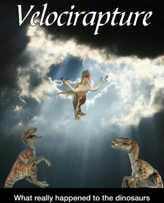 Raptor Jesus saves. - meme