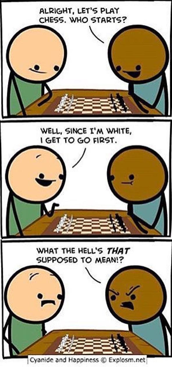 chess is racist - meme