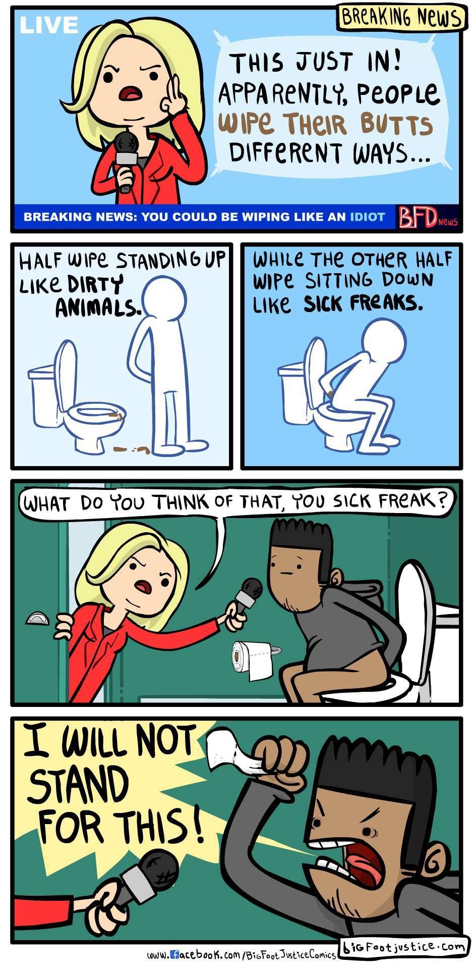 how do you wipe your bum - meme