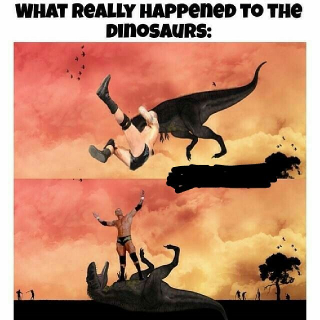 How dinosaurs died... - meme