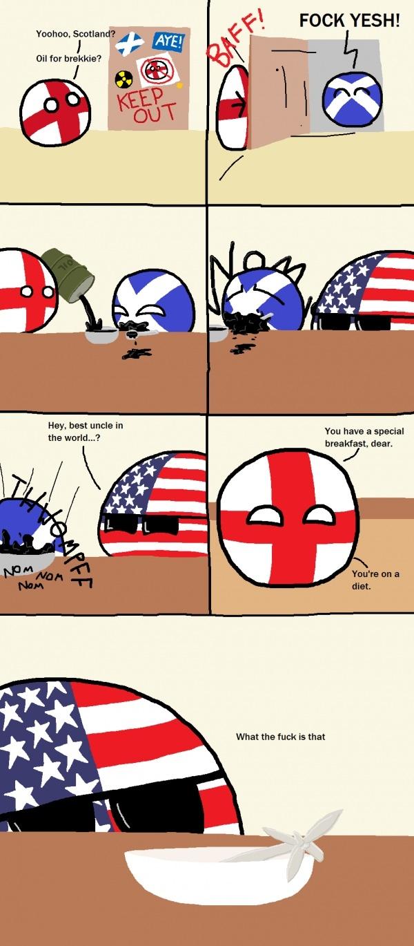 Britain has oil for days - meme