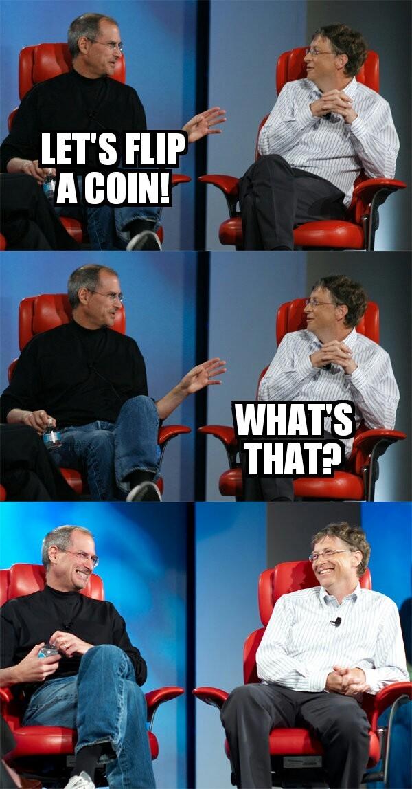 Steve vs Bill - meme