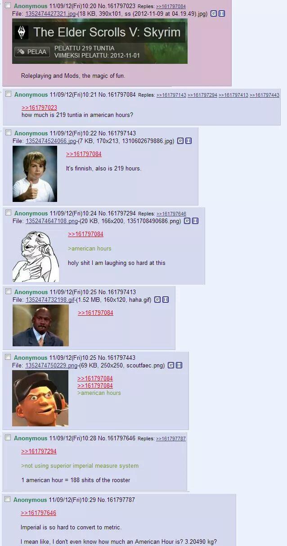 American hours - meme