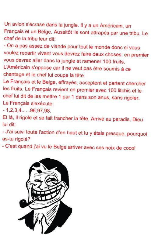 le belge _Un , fieu, Deux , fieu ... - meme