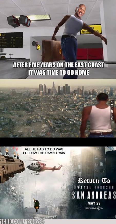 San Andreas is rekt CJ - meme