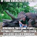He killed a Dinosaur?