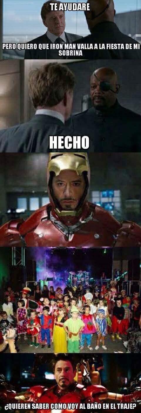 Ayuden a iron man :v - meme