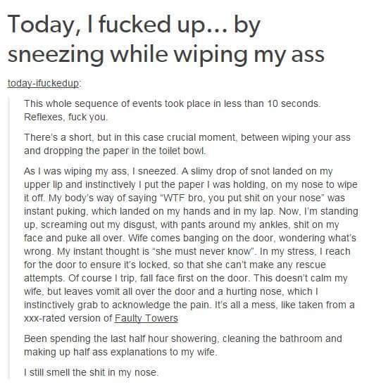 Poop stories - meme
