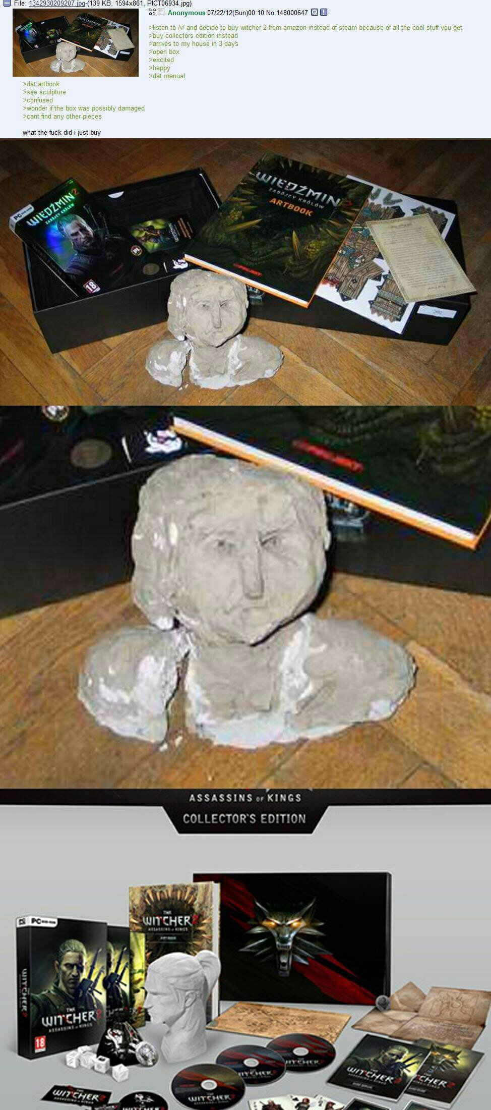 Don't you just hate it when you get a potato as a statue - meme