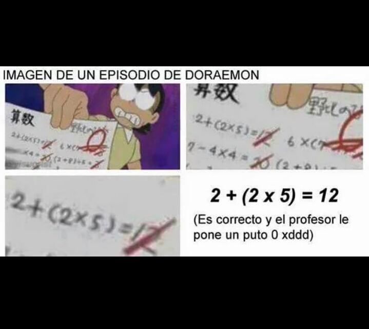 El profesor de Nobita le tenía auténtica manía - meme