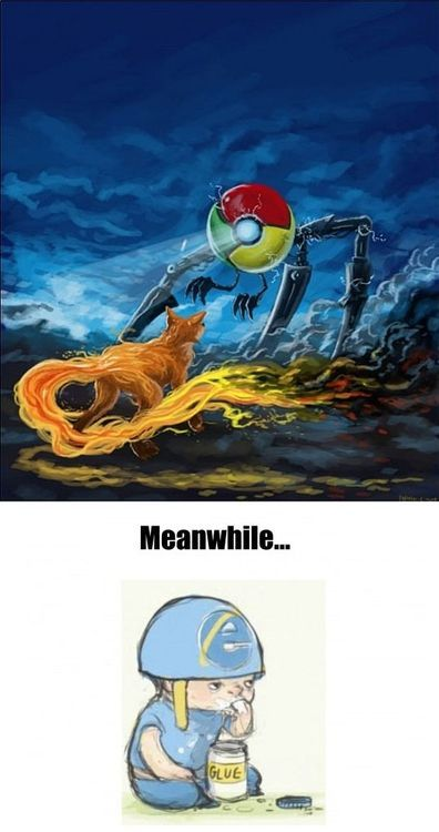 Goodbye Internet Explorer - meme