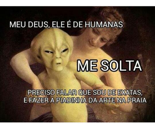 Humanas X Exatas - meme