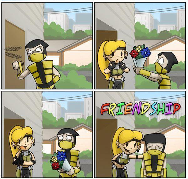 Até no MK tem Friendzone - meme