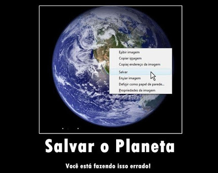 Salvem o planeta - meme