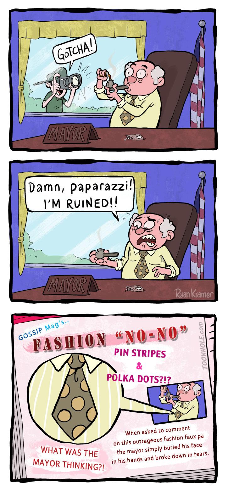 he doesn't have any fashion sense - meme