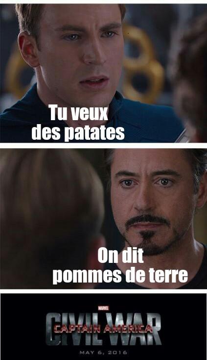 Patato war - meme
