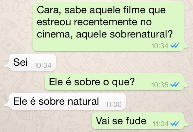 Zueira no whats - meme