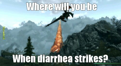 I fart in your general direction dovahkin! - meme