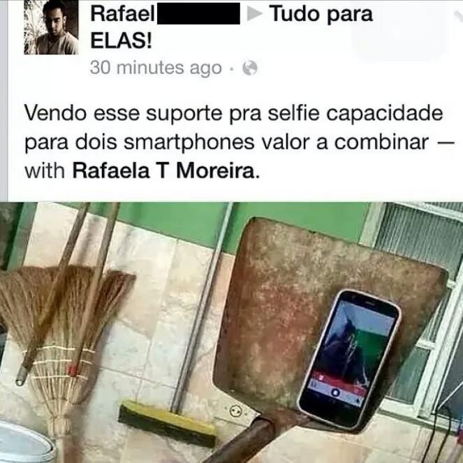 Pá de selfie - meme