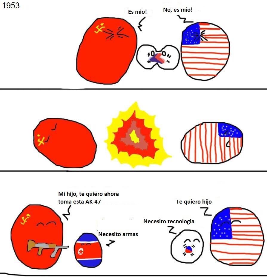 el nacimiento de las coreas - meme
