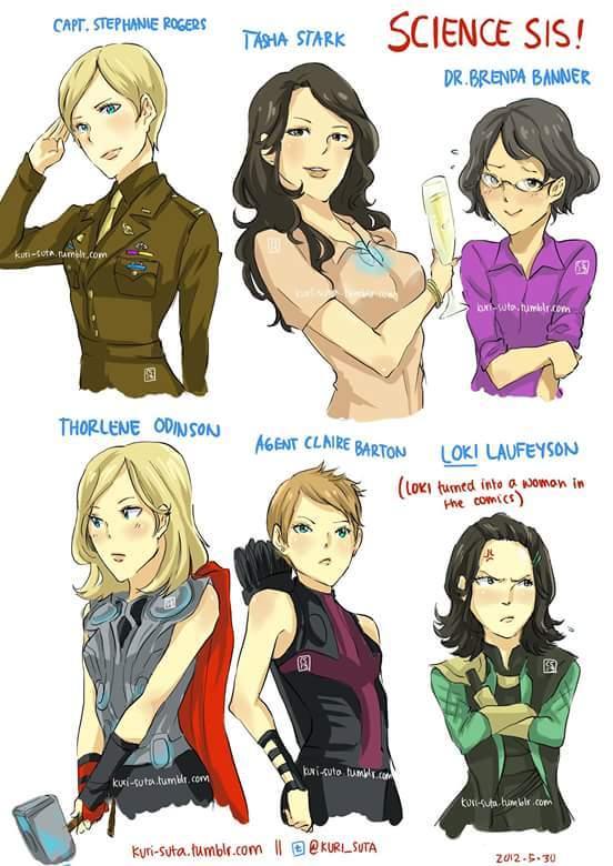 Female avengers - meme