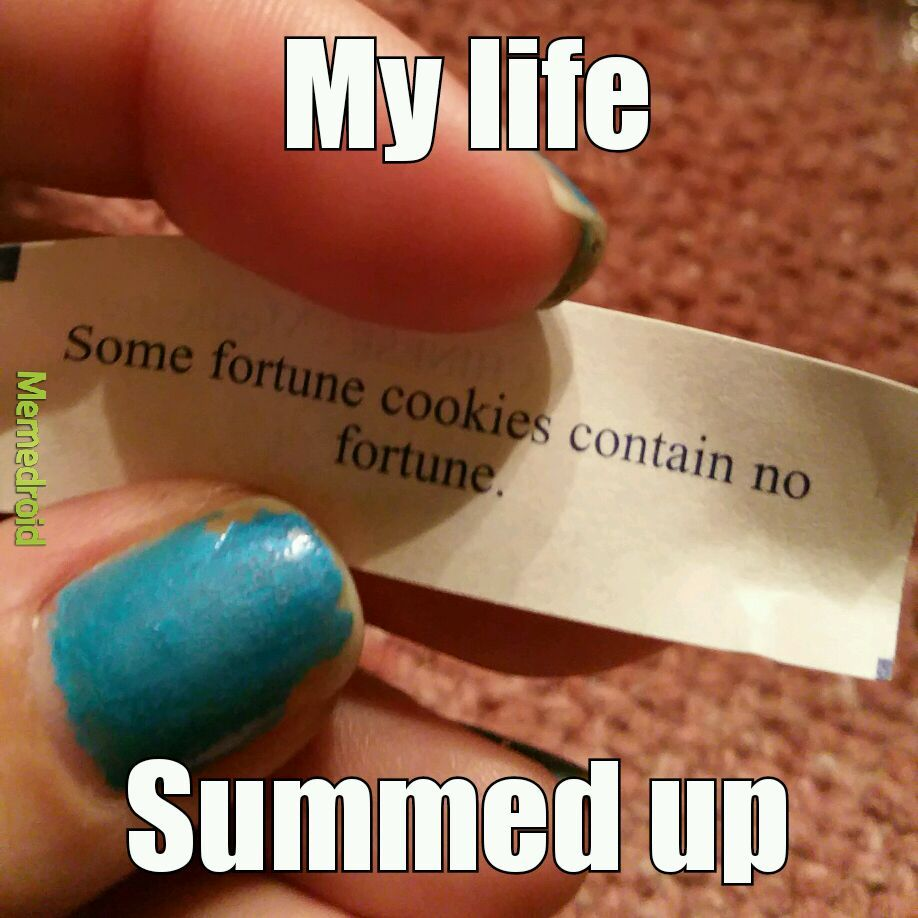 Ty for this motivational fortune. - meme