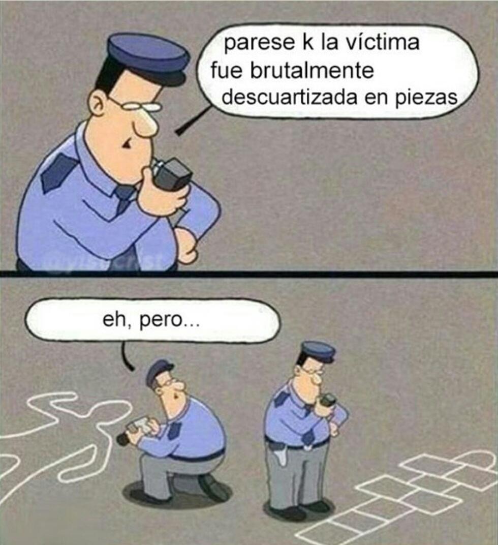 La escena del crimen - meme