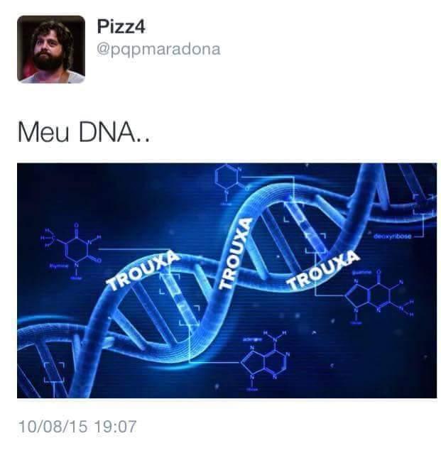 Claramente o meu DNA - meme