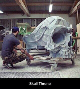 Skull throne - meme