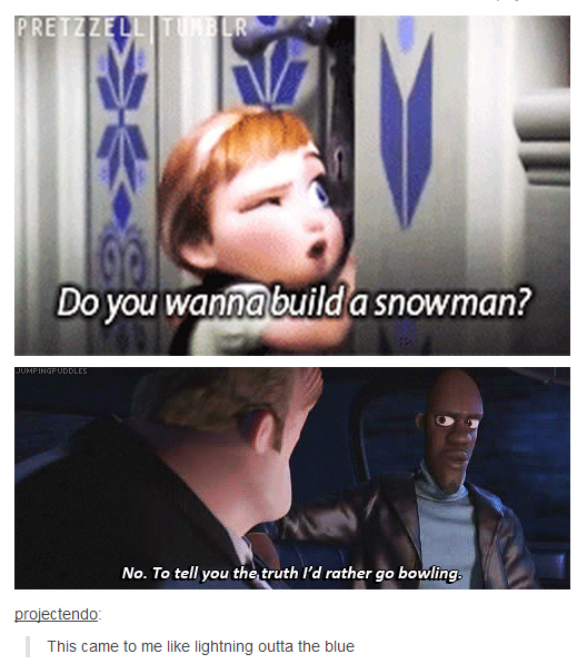 Like a snowman outta the woods? - meme
