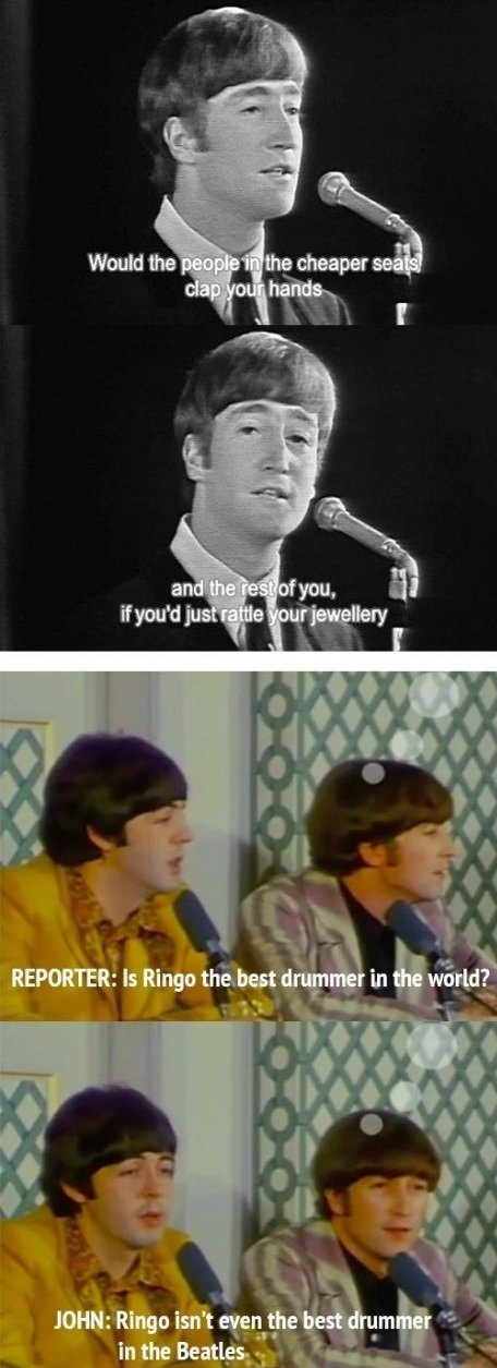 Freaking sassy beatles - meme