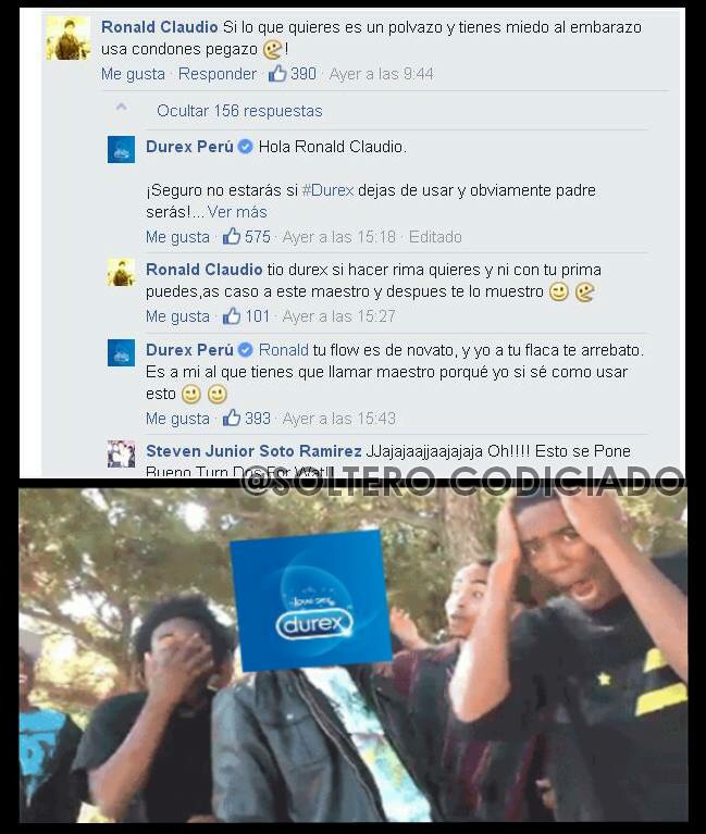 El tío Durex ganó Jajajaja - meme