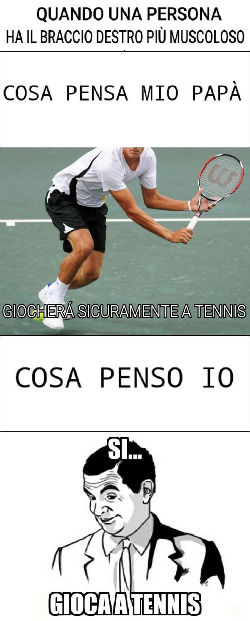 Eh sti giocatori di tennis - meme