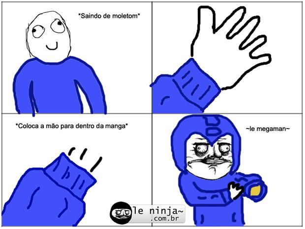Megaman= homem mega - meme