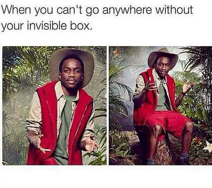 Can't go without the box - meme