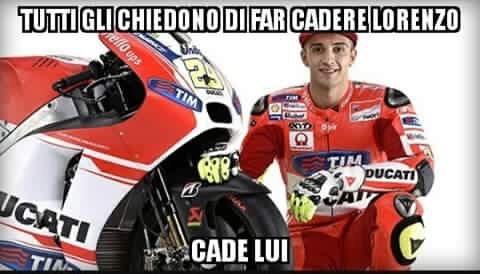 Bad Luck Iannone-Onore a Rossi-La mamma di Marquez è troia - meme