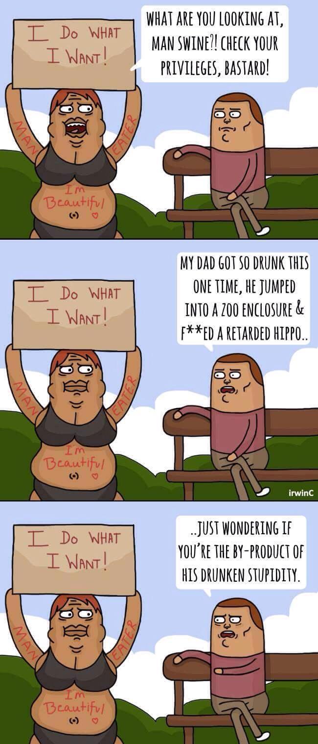 Retarded hippo - meme