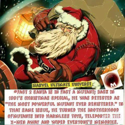 Santa is a mutant! - meme