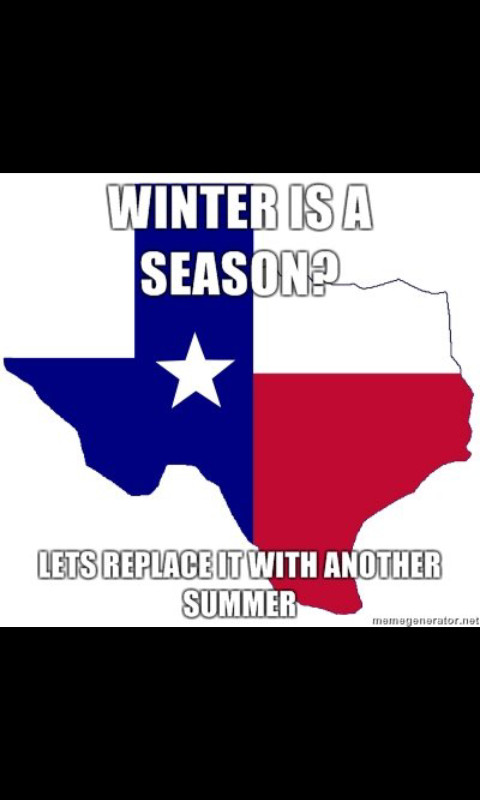 Texas has no winter - meme