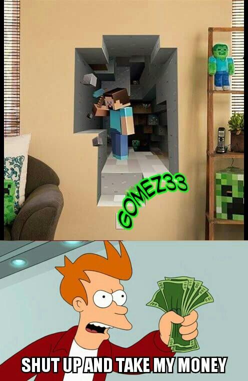Poster epico di minecraft - meme