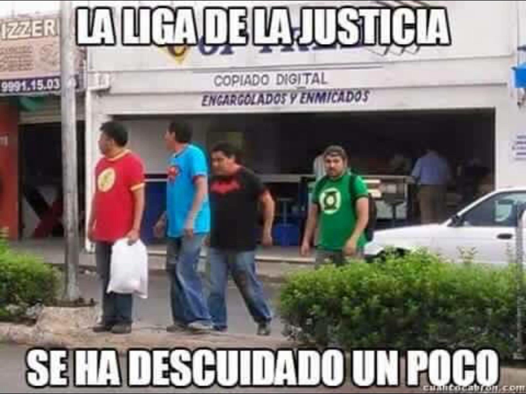 Liga de la justicia en México - meme